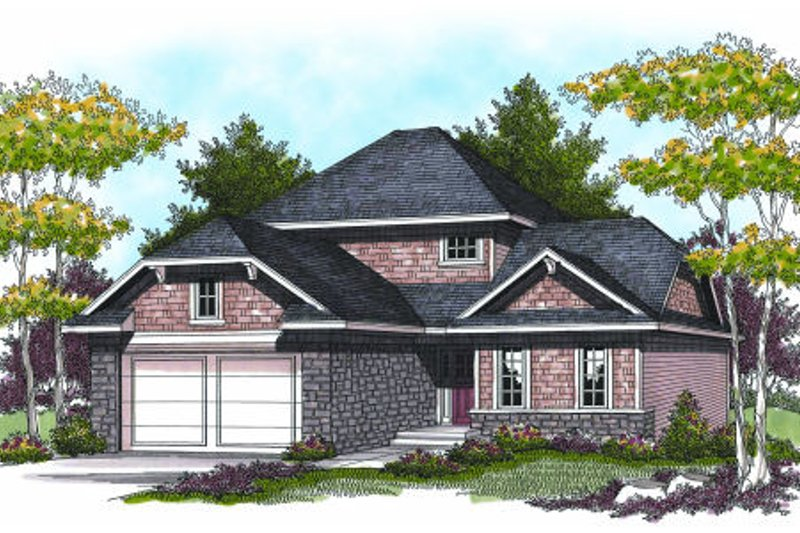 Traditional Exterior - Front Elevation Plan #70-944 - Houseplans.com