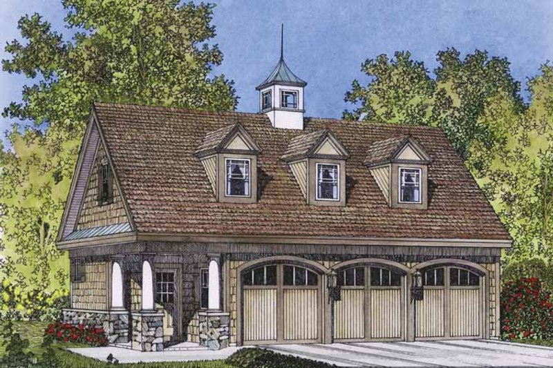Country Exterior - Front Elevation Plan #1016-76 - Houseplans.com