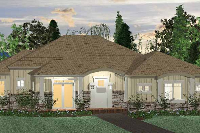 Colonial Exterior - Front Elevation Plan #937-38