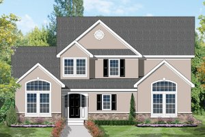 Home Plan - Traditional Exterior - Front Elevation Plan #1053-27
