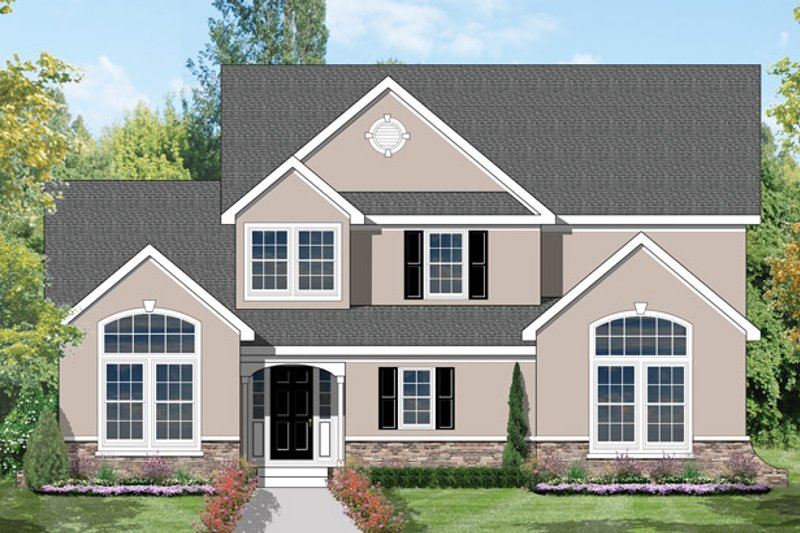 House Plan Design - Traditional Exterior - Front Elevation Plan #1053-27