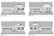 Traditional Style House Plan - 3 Beds 2 Baths 1717 Sq/Ft Plan #497-42 Exterior - Other Elevation