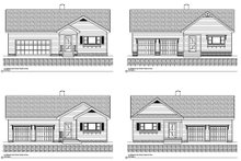 Dream House Plan - Traditional Exterior - Other Elevation Plan #497-42
