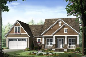 Craftsman Exterior - Front Elevation Plan #21-398