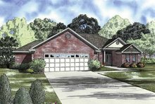 Ranch Exterior - Front Elevation Plan #17-2850