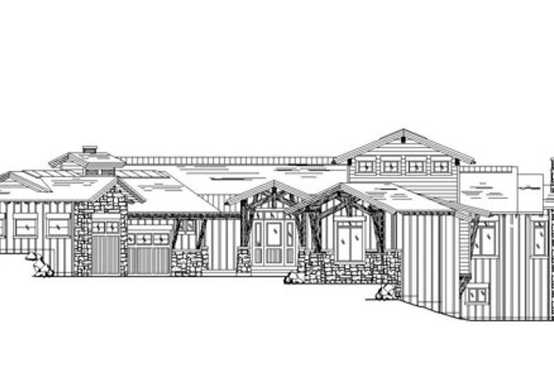 Craftsman Exterior - Front Elevation Plan #945-140 - Houseplans.com