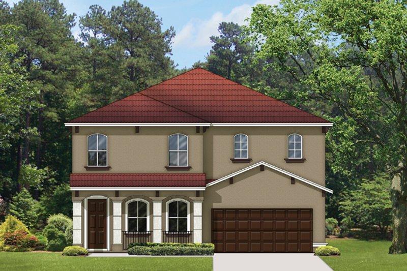 Architectural House Design - Mediterranean Exterior - Front Elevation Plan #1058-66