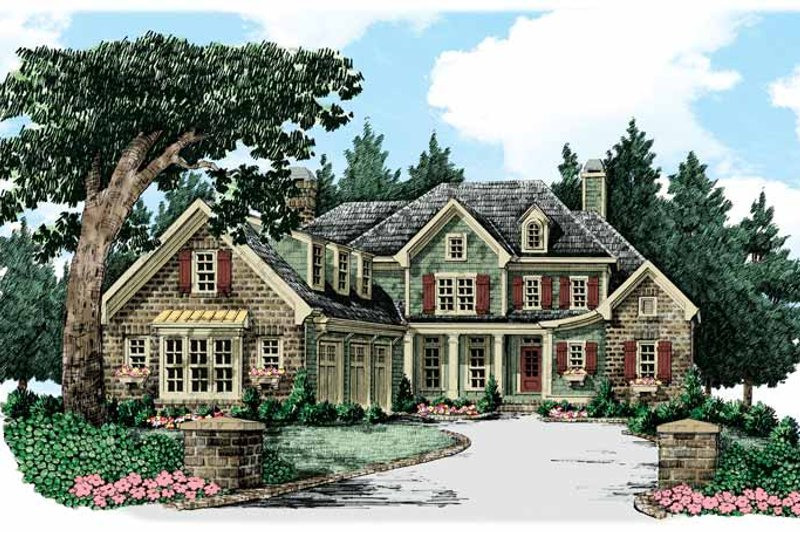 Traditional Exterior - Front Elevation Plan #927-347 - Houseplans.com