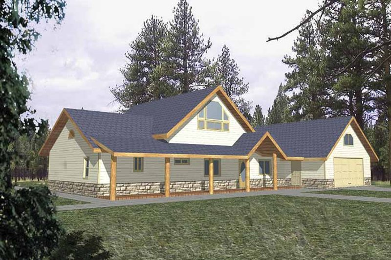 Country Exterior - Front Elevation Plan #117-816