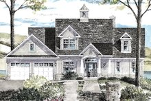 House Plan Design - Colonial Exterior - Front Elevation Plan #316-287