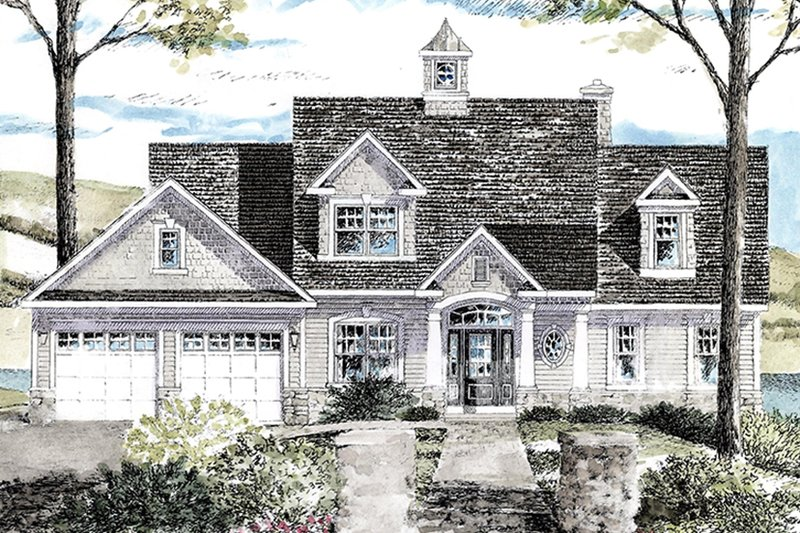 Colonial Exterior - Front Elevation Plan #316-287