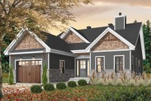 House Plan Design - Craftsman Exterior - Front Elevation Plan #23-2692