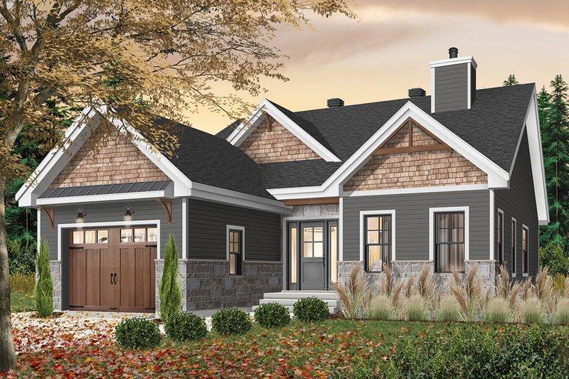 Dream House Plan - Craftsman Exterior - Front Elevation Plan #23-2692