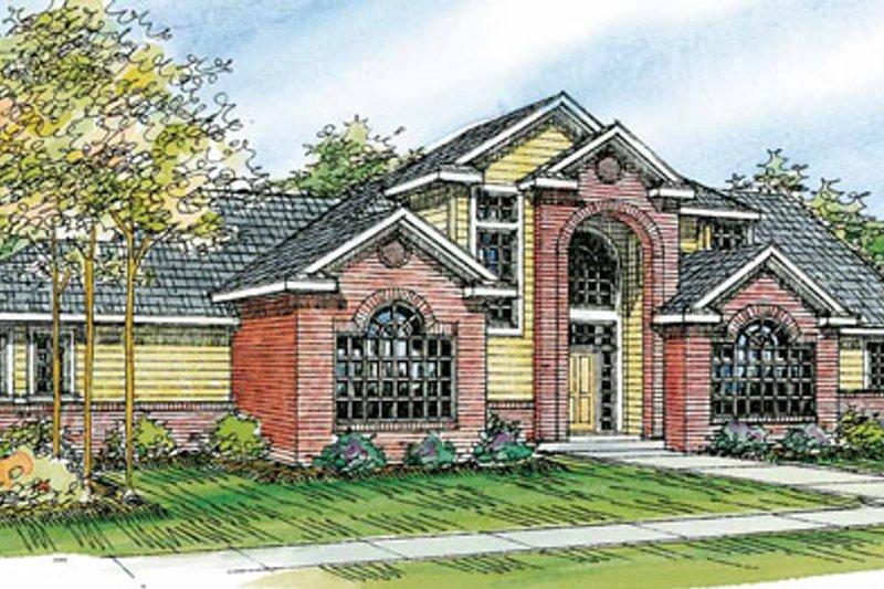 Dream House Plan - European Exterior - Front Elevation Plan #124-742