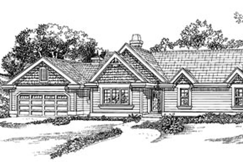 Traditional Style House Plan - 3 Beds 2 Baths 1357 Sq/Ft Plan #47-329
