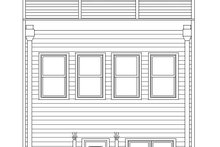 Home Plan Design - Contemporary Exterior - Rear Elevation Plan #932-196