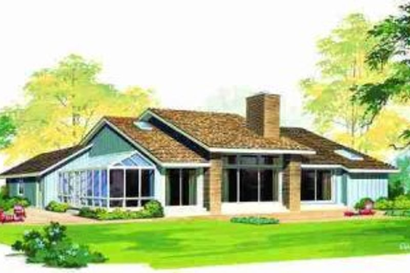 Ranch Exterior - Rear Elevation Plan #72-305 - Houseplans.com