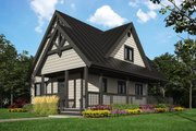 Cottage Style House Plan - 2 Beds 2 Baths 1343 Sq/Ft Plan #118-169 Exterior - Front Elevation