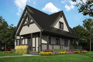 Cottage Exterior - Front Elevation Plan #118-169