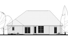 European Exterior - Rear Elevation Plan #430-122