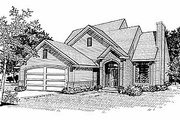 Traditional Style House Plan - 3 Beds 2 Baths 1342 Sq/Ft Plan #70-113 Exterior - Front Elevation