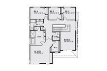 Contemporary Floor Plan - Upper Floor Plan Plan #1066-6