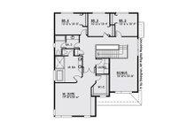 Contemporary Floor Plan - Upper Floor Plan Plan #1066-6