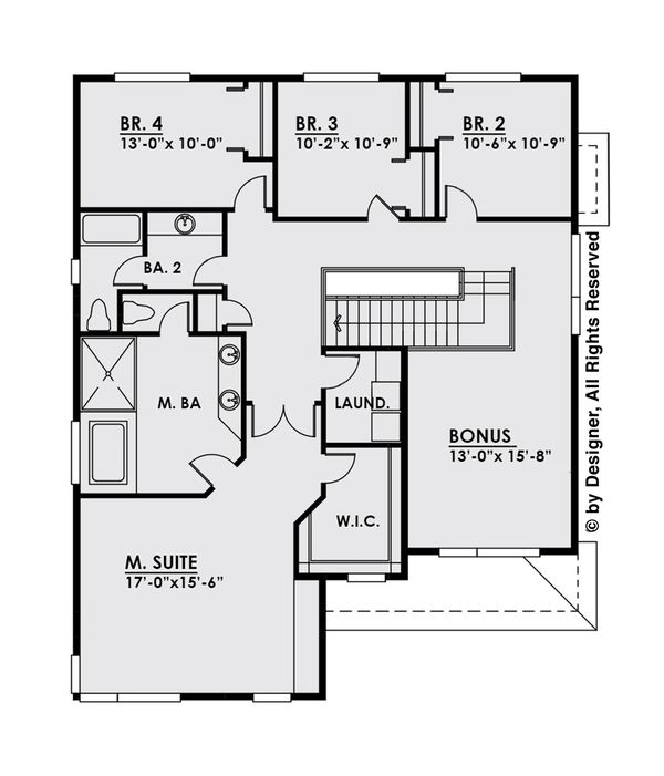 House Design - Contemporary Floor Plan - Upper Floor Plan #1066-6