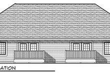 Traditional Exterior - Rear Elevation Plan #70-892