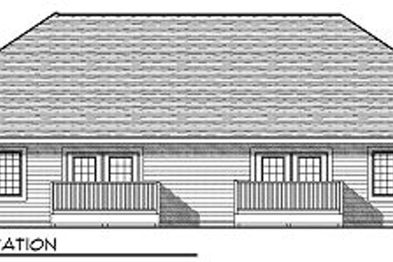 Traditional Exterior - Rear Elevation Plan #70-892 - Houseplans.com