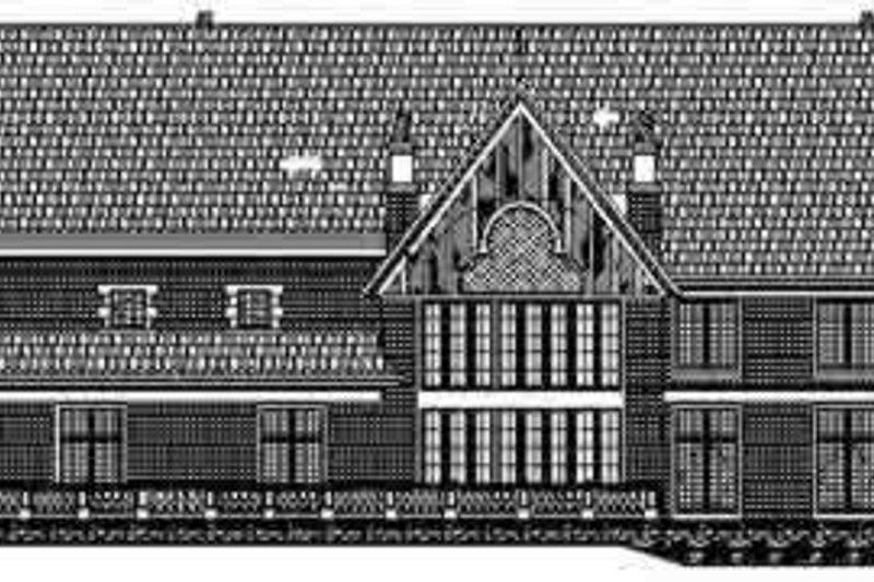 European Exterior - Rear Elevation Plan #119-219 - Houseplans.com