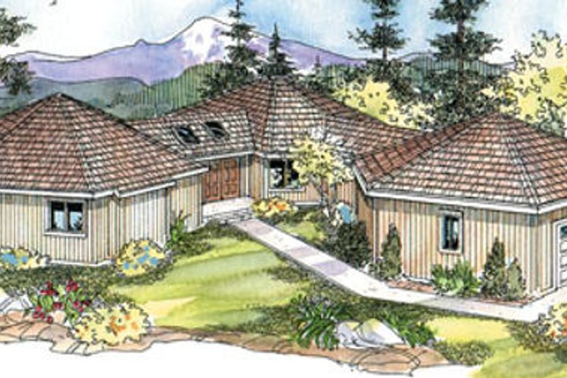 Exterior - Front Elevation Plan #124-642