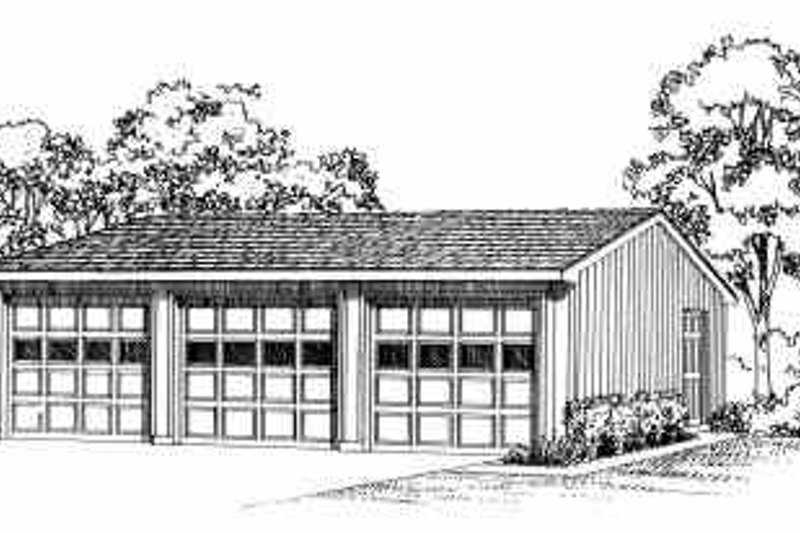 House Blueprint - Traditional Exterior - Front Elevation Plan #72-248
