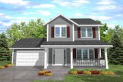 Traditional Style House Plan - 3 Beds 2 Baths 1486 Sq/Ft Plan #50-110 Exterior - Front Elevation