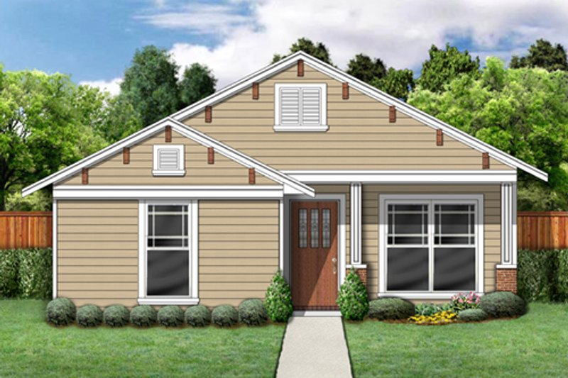 Architectural House Design - Traditional Exterior - Front Elevation Plan #84-496