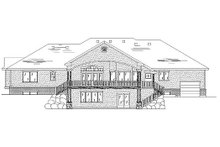 House Plan Design - Traditional Exterior - Rear Elevation Plan #5-354