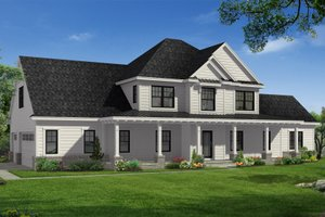 House Plan Design - Farmhouse Exterior - Front Elevation Plan #1057-22