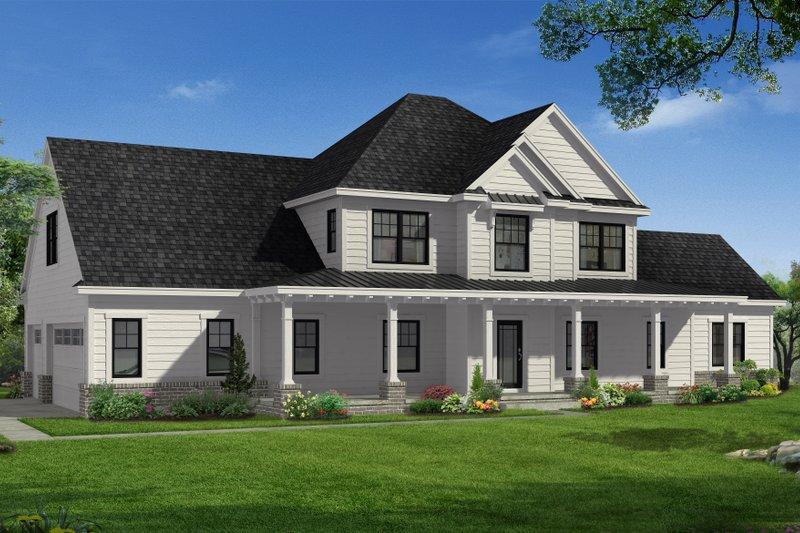 Architectural House Design - Farmhouse Exterior - Front Elevation Plan #1057-22