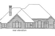 European Style House Plan - 3 Beds 3.5 Baths 3093 Sq/Ft Plan #310-917 Exterior - Rear Elevation