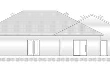 Dream House Plan - Ranch Exterior - Rear Elevation Plan #1077-9