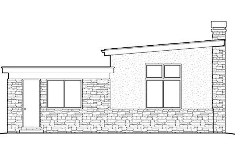 Modern Exterior - Rear Elevation Plan #48-474 - Houseplans.com