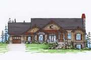 Craftsman Style House Plan - 4 Beds 4.5 Baths 2037 Sq/Ft Plan #5-259 Exterior - Front Elevation
