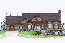 Craftsman Exterior - Front Elevation Plan #5-259