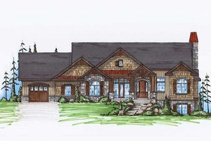 Architectural House Design - Craftsman Exterior - Front Elevation Plan #5-259