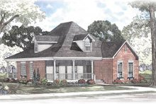 House Plan Design - Southern Exterior - Front Elevation Plan #17-402