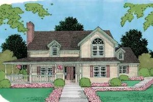 Traditional Exterior - Front Elevation Plan #75-166