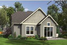 House Plan Design - Craftsman Exterior - Rear Elevation Plan #48-660