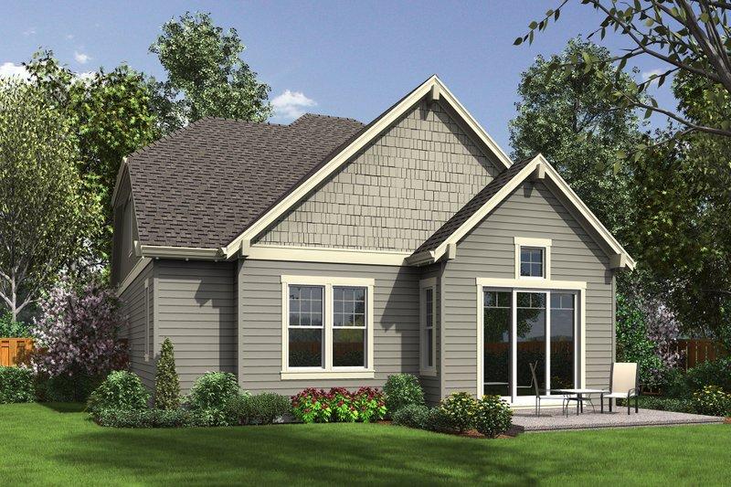 Craftsman Exterior - Rear Elevation Plan #48-660 - Houseplans.com