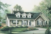 Country Style House Plan - 3 Beds 2 Baths 1787 Sq/Ft Plan #57-298 Exterior - Front Elevation