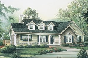 Country Exterior - Front Elevation Plan #57-298